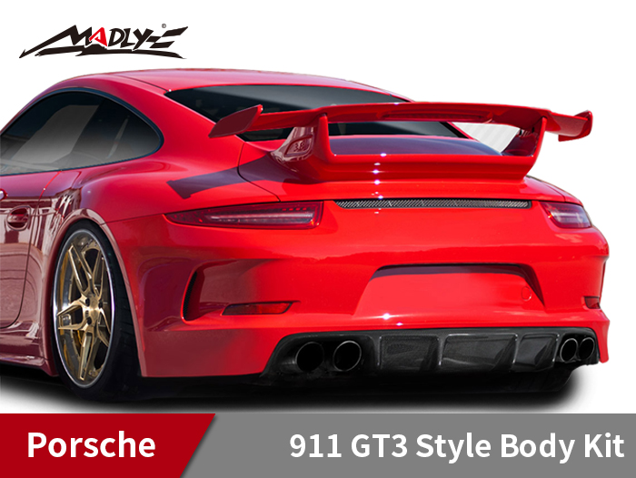 2012-2015 Porsche 911 Carrera 991 GT3 Style Rear Lip