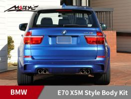 2008-2013 BMW X5/X5M HM Style Body Kits With Double Two Hole Exhaust Tips Rear Bumper​