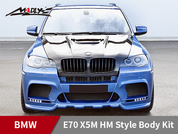 2008-2013 BMW X5/X5M HM Style Body Kits With Double Two Hole Exhaust Tips​ Front Bumper