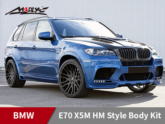 2008-2013 BMW X5/X5M HM Style Body Kits With Double Two Hole Exhaust Tips