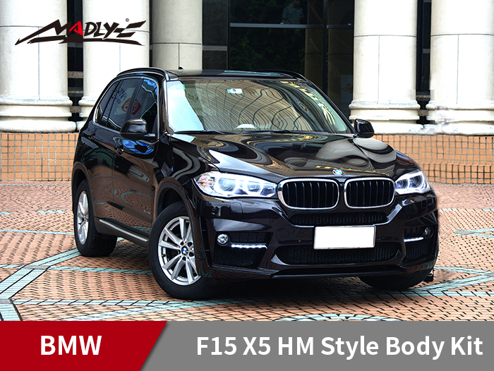 2014-2016 BMW F15 X5 HM Style Body Kits With Double Two Hole Exhaust Tips