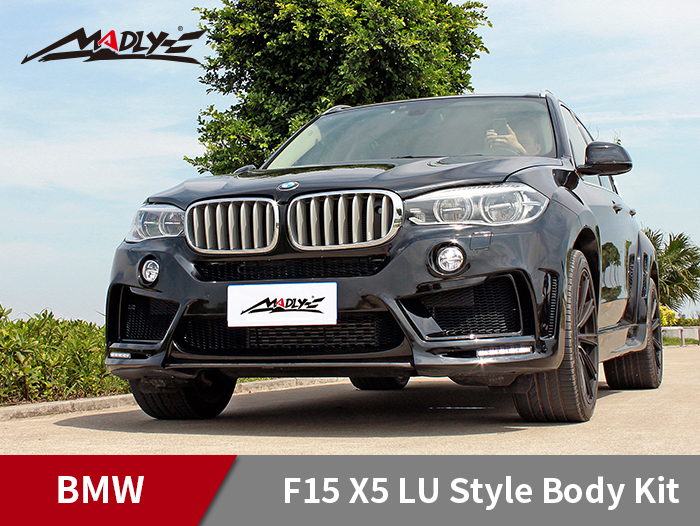 2014-2016 BMW F15 X5 / X5M LU style wide body kits With Double Two Hole Exhaust Tips