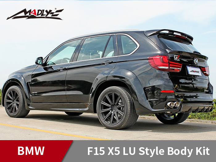 2014-2016 BMW F15 X5 / X5M LU style With Double Two Hole Exhaust Tips Fender Flares