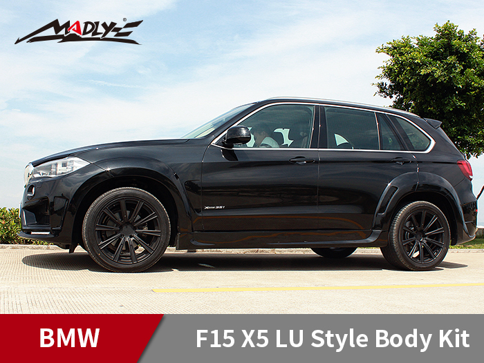 2014-2016 BMW F15 X5 / X5M LU style With Double Two Hole Exhaust Tips Side Skirts