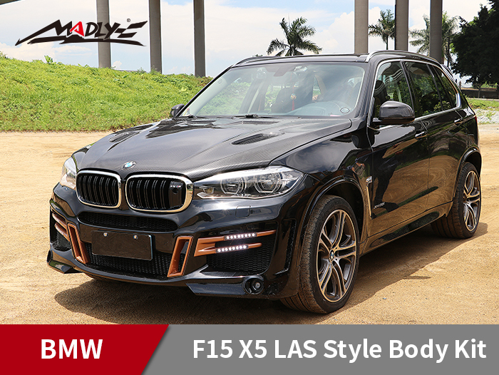 2014-2018 BMW X5 F15 LAS Style Middle Four Hole Exhaust Tips Body Kits