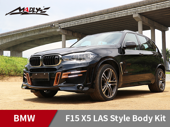 2014-2018 BMW X5 F15 LAS x HM Style Body Kits With Double Two Hole Exhaust Tips