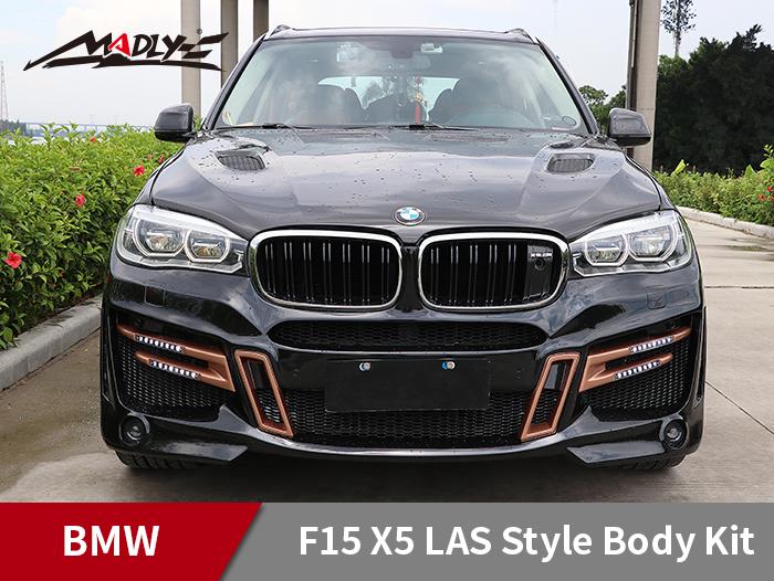 2014-2018 BMW X5 F15 LAS Style Body Kits With Middle Four Hole Exhaust Tips Front Bumper