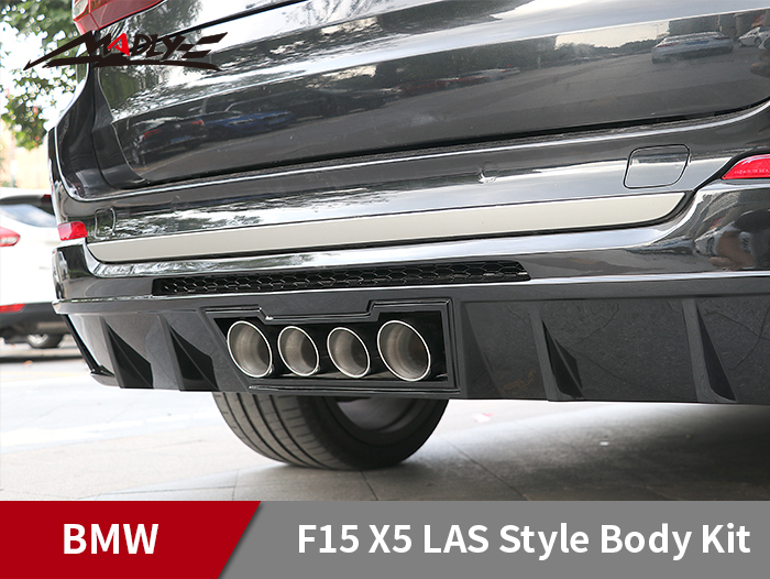 2014-2018 BMW X5 F15 LAS Style Body Kits With Middle Four Hole Exhaust Tips Rear Lip
